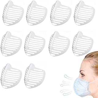 3D Face Bracket, Face Inner Support Frame Soft Silicone Face Holder for Comfortable Breathing Washable Reusable (10PCS)