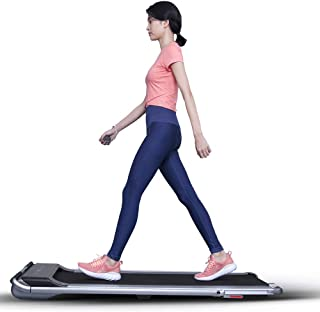 RHYTHM FUN Treadmill Under Desk Treadmill 2-in-1 Folding Running Walking Treadmill with Foldable Handtrail and Speed Senso...