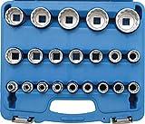 BGS 2267 | Juego de llaves de vaso 12 caras | entrada 12,5 mm (1/2') | 8 - 36 mm | 21 piezas