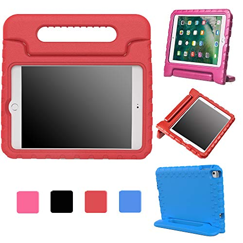 Kids iPad Mini 4 2015-2018 7.9 Inch Eva Case for Kids Friendly Protective Shock Proof School Lightweight Convertible Handle Stand Protective Red