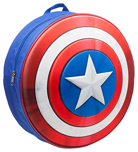 Capitan America Marvel bp241201cap Zainetto per bambini con connettori e Embossed Shield