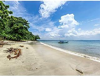 Crisco 1492 Karang Bolong strand tropisk Indonesien foto utan ram väggkonst tryck affisch heminredning premium