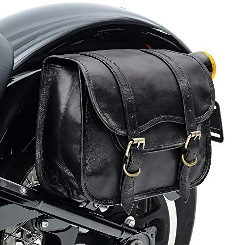 Borsa laterale Vintage Compatibile con Moto Guzzi V7 III/Anniversario Craftride SV1 nero