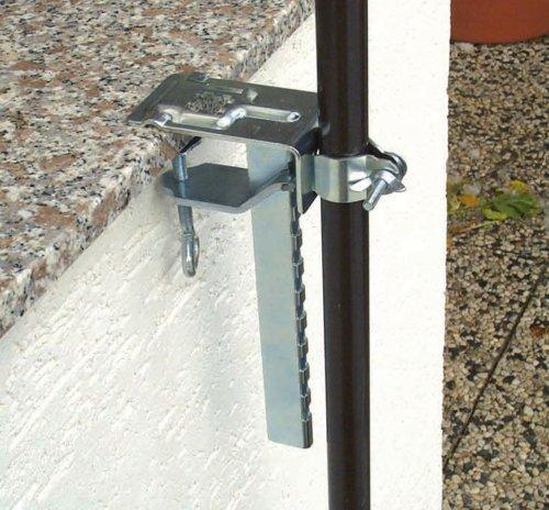 Profiline 450650 Balkonklammer für Sonnenschirm