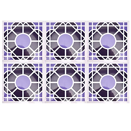 Goshyda 10 Unids/Set Azulejos De Cerámica De Imitación, Pegatinas para Azulejos De Piso Innovador Adhesivo De Pared con Protección Múltiple, para Cocina, Baño, Apartamento, Oficina(19)