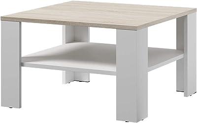 Selsey Table Basse, Blanc/Chêne Sonoma, 68x41x68 cm