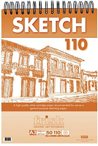 Frisk - Cuaderno de dibujo (A4, 100 hojas), color blanco