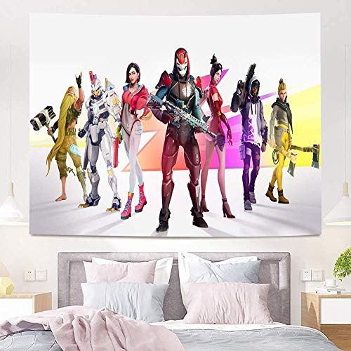 YeeATZ Fort_nite Tapestry Wall Hanging Gaming Tapestry for Boys Party Banner Room Backdrop Poster Teens Room Wall Decoration 60x80 inches