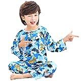 LASIMAO Juego de Ropa de Dormir para niños, Conjunto de Pijamas de algodón, Ropa de Dormir de niña, Ropa de Dormir, Conjuntos de Pijamas, Conjuntos de Dibujos Animados Lindo Home,Y,130CM
