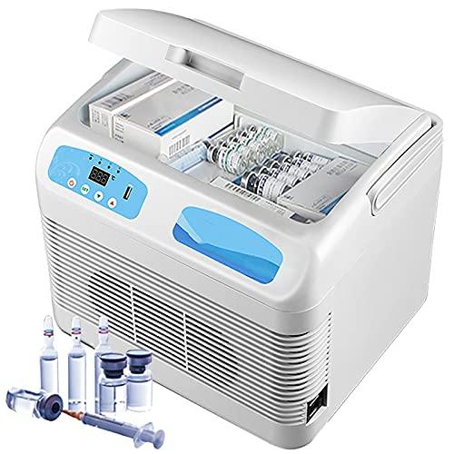 12L Insulin Kühlbox Mini Elektrisch Insulin Kühler Tragbare Medikamenten Kühlschrank Kleiner Auto Kühlschrank Kühltasche Thermostat Für Zuhause Reisen Camping, Weiß