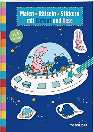 Malen • Rätseln • Stickern mit Elefant und Hase: Elefantastischer Rätselspaß für Kindergartenkinder (Rätsel, Spaß, Spiele)