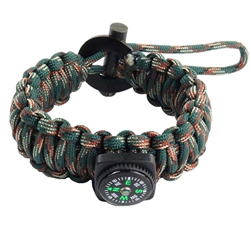 kadyn Durable multi-usage Paracord Bracelet de Survie Boussole vert Vert