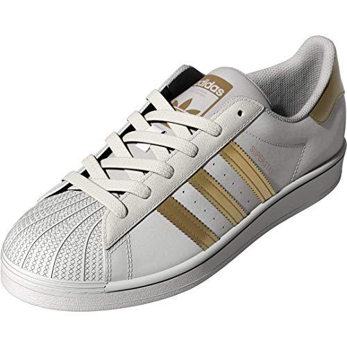 adidas Originals Women's Superstar Shoes Sneaker, White/Copper Metallic/Black, 6.5