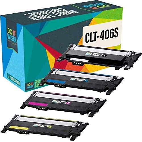 Do it wiser Kompatible Toner CLT-406S Ersatz für Samsung CLX-3300 CLX-3305 CLX-3305W CLX-3305N CLX-3305FW CLX-3305FN CLP-360 CLP-360N CLP-365 CLP-365W Xpress C410W C460FW C460W (4er-Pack)