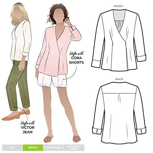 Style Arc Schnittmuster – Vera Gewebte Bluse (Größen 46-46) – weitere Größen erhältlich