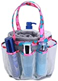 Organizador de ducha de malla portátil, 8 cestas para baño universitario dormitorio, gran bolsa de ducha para camping, gimnasio