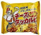 Paldo [韓国 辛麺] 韓国風 汁なし炒め ヌードル チーズダッカルビ 140g ×5袋