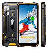 Rugged Smartphone, Rugged Unlocked Cell Phones CUBOT Kingkong 6.1''HD+ Screen, Android 11, 4GB + 64GB, 8000mAh Battery, IP68 Waterproof Phone, 48MP Camera, 4G Dual SIM, Face ID, NFC, GPS, US Version
