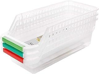 PULABO Boîte de rangement pour réfrigérateur de cuisine, panier à fruits et organiseur de fruits aléatoires, rentable et d...