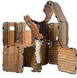EDUPLAY 120623 Karton-Fort Karton Festung, Natur/braun, 64-teilig (1 Set)