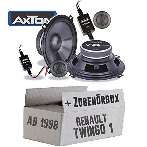 Lautsprecher Boxen Axton AE502C | 13cm 2-Wege Koax Auto Einbauzubehör - Einbauset für Renault Twingo 1 Phase 2 Front - JUST SOUND best choice for caraudio