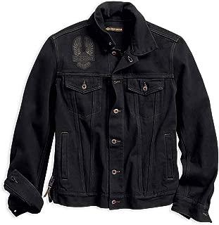 HARLEY-DAVIDSON Men's Eagle Applique Slim Fit Denim Jacket 98592-18VM