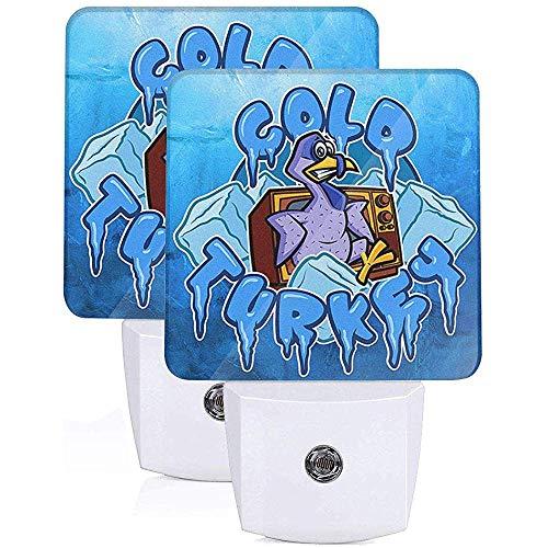 Kalte Cartoon Türkei Plug-in LED Nachtlicht mit Auto Sensor Dämmerung bis Morgendämmerung Flache Nachtlicht Indoor Home Decor Sets von 2