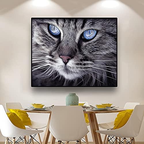 Puzzle 1000 piezas Cabeza de gato lindo gato siamés...