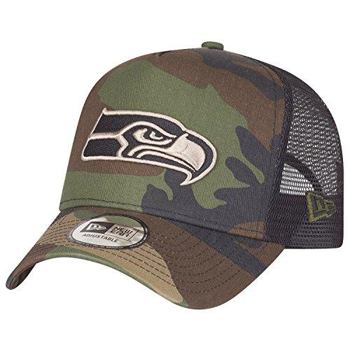 New Era Adjustable Trucker Cap - Seattle Seahawks Wood camo