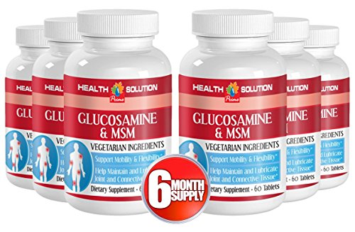 Msm with glucosamine sulfate - GLUCOSAMINE and MSM - Supports Joint Function (6 Bottles)