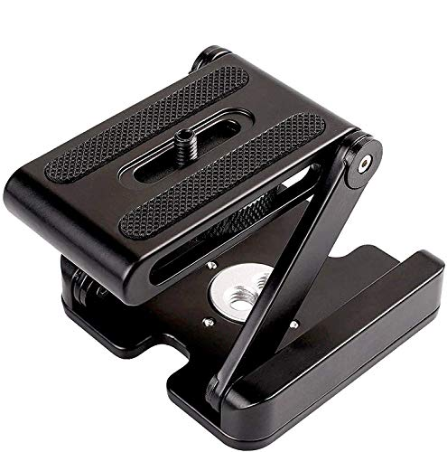 Z Type Foldable Desktop Stand Holder Tripod Flex Pan&Tilt with Ball Head Compatible Slide Rail Camera Camcorder Tripod with 1/4