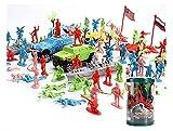 Black Temptation Mini Mesa de Arena Modelo Toy Car / Truck / Tank Toy Plastic Soldiers Gifts-107 PC