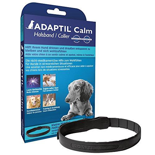 ADAPTIL Calm - Antiestrés para perros - Miedos, Ruidos Fuertes, Aprendizaje, Adopción - Collar S para Perros Pequeños