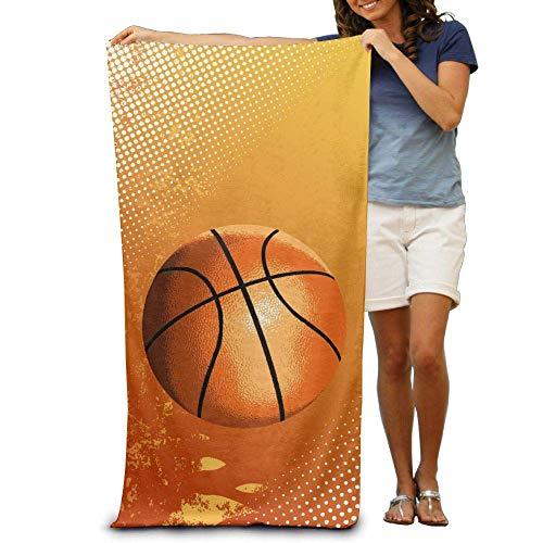 KIMIOE Toalla Toalla de Playa Basketball Sports Beach Towels Luxurious Soft Eco-Friendly Printing Design Pool,Non-Toxic décor 31'x 51'in
