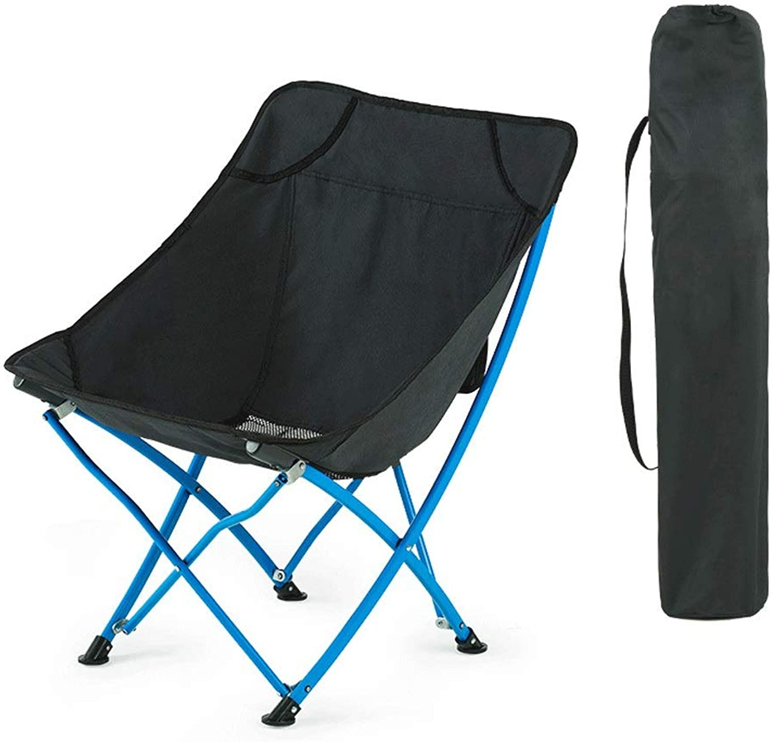 AQnice Outdoor Ultralight Portable Folding Chairs with Carry Bag Heavy Duty 120Kg Capacity Camping Folding Chairs Beach Chairs (color   Black)