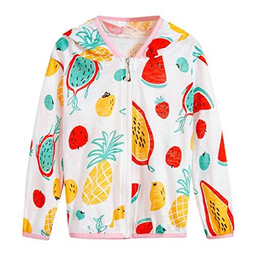 Boys Girls Spring Fall Cool Weather Cartoon Fruit Print Zipper Sweatshirt Jacket Coat 2-8 Years