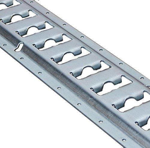 2x 1,5m (1520mm) ancla combinado Zurr Carril/Ancla combinado/Nevera Carril de amarre, acero galvanizado 🔥