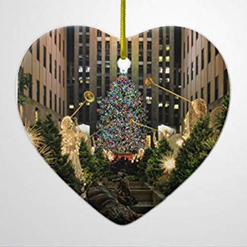 BYRON HOYLE Rockefeller Center Christmas Tree Angels H Ceramic Ornament Christmas Ornaments Pandemic Xmas Decor Holiday present