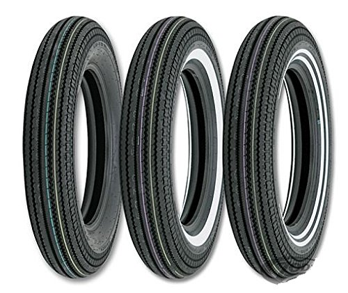 Neumático delantero/trasero Shinko 4.00 H 19 E270 61H doble banda blanca moto Custom y Harley