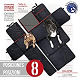 Funda cubreasientos para perro | Protector universal impermeable de mascotas para asiento trasero y maletero de coche | Cubierta asiento...