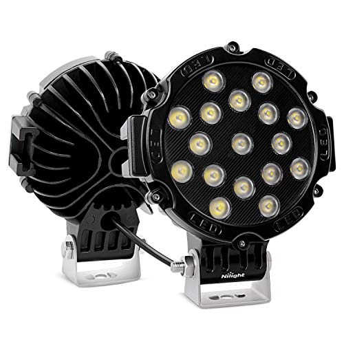 Nilight - 15023FB-B Led Light Bar 2PCS 7