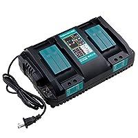 マキタ 互換 充電器 DC18RD二口急速充電器 Wimaha マキタ14.4v/18vバッテリー対応 1年保証