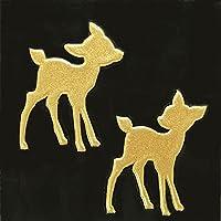 蒔絵シール ANIMAL 「小鹿(2匹) 金」