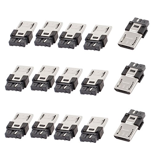 Sourcingmap® 15 Stücke Micro USB Typ B 5 pin Stecker zum Löten Stecker männlich de