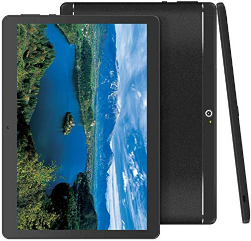 """Foren-Tek Android Tablet with SIM Card Slot Unlocked 10 inch -10.1"""" IPS Screen Octa Core 4GB RAM 64GB ROM 3G Phablet with WiFi GPS Bluetooth Tablet (Black)"""