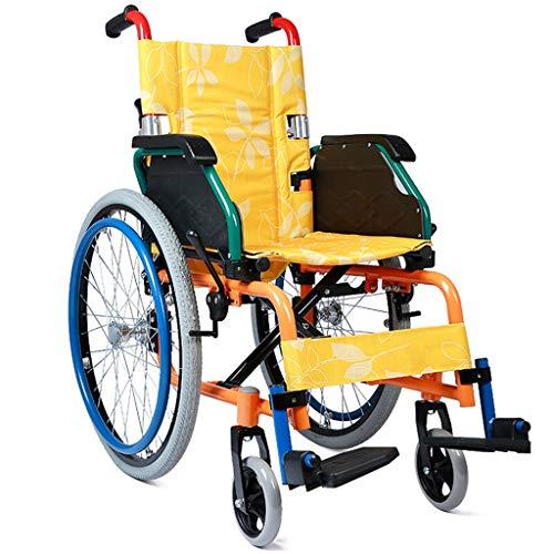 Hiyougen Kinderrollstuhl, der tragbaren jugendlichen Cerebralparese-Rehabilitations-Rollstuhl-Kinderlaufkatzenselbstfahrenden Rollstuhl faltet