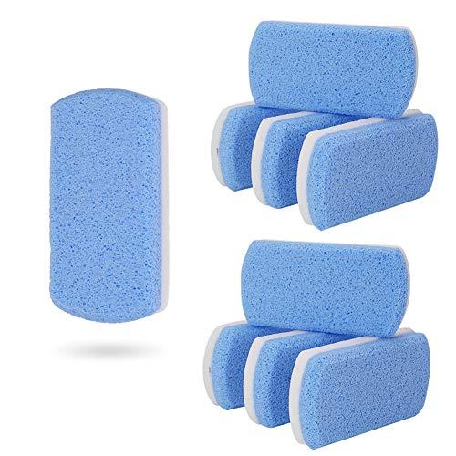 dorisdoll 8 Stücke Bimsstein Doppelseitige Natürliche Hornhautentferner Scrubber für Füße Körper Harte Haut 2 in 1 Peeling Pediküre Werkzeuge