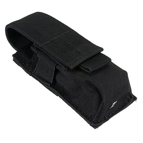 freneci MOLLE Magazine Pouch Bag Utility Linterna Soporte para Caja de Teléfono - Negro