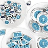 Big Dot of Happiness Blue Elegant Cross -...