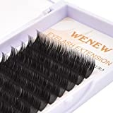 WENEW Flat Lashes 0.15mm D Curl Individual Classic Eyelash Extensions 11mm